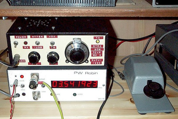 Modified Lake DTR3 80m QRP CW transceiver