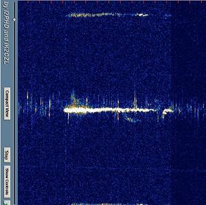 Spectran Waterfall Trace 1 13/08/09
